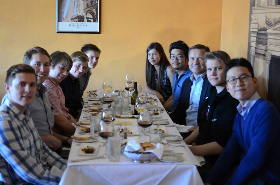 Dinner with Mårten Mickos, CEO of Eucalyptus Systems and former CEO of MySQL.